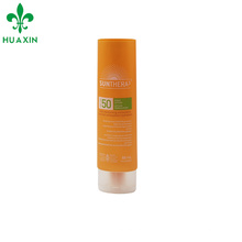 tubo suave cosmético oval de la crema solar del tubo plástico