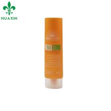 tubo de plástico oval cosmético creme de sol tubo macio