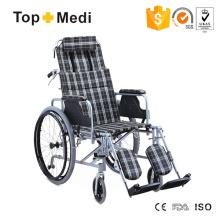 Topmedi Medical Equipment Reclining Aluminum Wheelchair for Adults