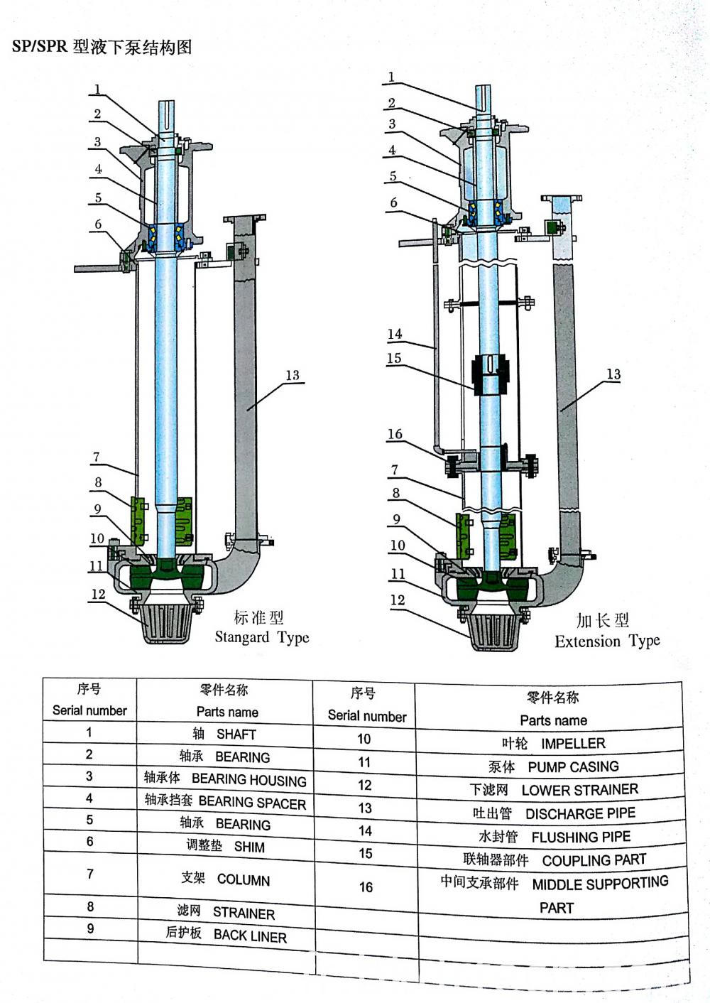 Vertical Submerged Pump Structure