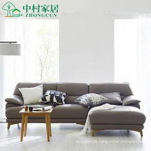 Sofá de couro da sala de estar