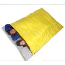 Großhandelsschlafsack mit 2 Personen, gelber Schlafsack