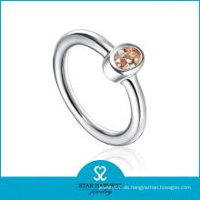 Einfache Design 925 Silber CZ Ring