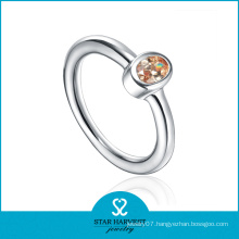 Simple Design 925 Silver CZ Ring