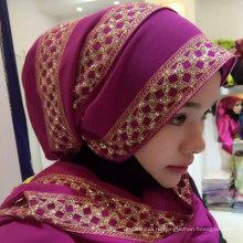 Ханчжоу завод Исламский хиджаб арабский стиль женщин один кусок хиджаб шарф для весны
