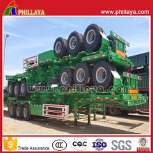 40 т - 60 тонн 3 оси 40FT контейнер шасси бортовой грузовик полу прицеп