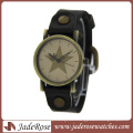 Wholesale Personality Alloy Watch with Leather Strap Watch