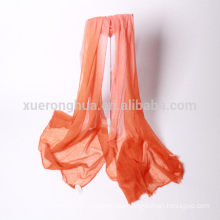orange plain color banned ring shawls cashmere shawl for women