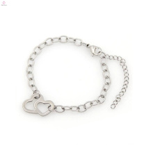 Popular design cool men bead bracelet, silver stainless steel chain bracelet wholesale