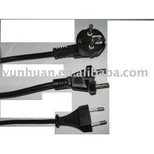 VDE certifié puissance câble fil ligne cordon type européen EU connecteur câble d'alimentation