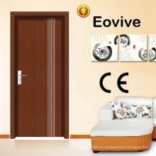 Buena calidad barata puerta de madera Interior MDF PVC puerta