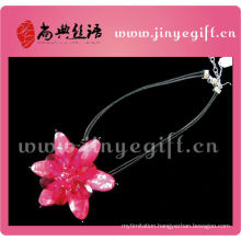 ShangDian Accessories Best Jewelry Gemstone Beautiful Pink Floral Necklace