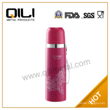 Fashion stainless steel read double wall coffee thermos