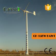 Horizontale Achse 15kw elektrische erzeugende Windmühlen für Verkauf