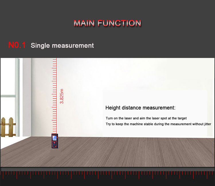 single measure laser distance meter