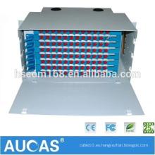 Fabricación Aucas 12 24 48 Fibra Óptica de Puerto Panel de Parche ODF