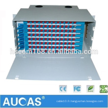 Fabrication Aucas 12 24 Panneau de raccordement à fibre optique 48 ports ODF