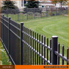 PVC Coated Ornamental Steel Picket Fence