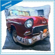Almohadilla de lana de poliéster impresa de coche vintage