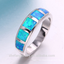 opal 925 silver and copper gemstone ring