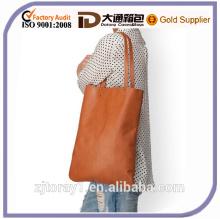 Fashion Plain PU Single Shoulder Bag for College Student