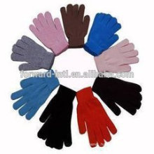 2014 Lady Winter Knitted Solid 100% Cashmere Glove