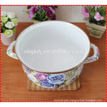 kitchenware printed casserole enamel pot
