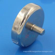 Ni-Cu-Ni coating round base magnet with thread