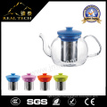 Wholesale Handblown Borosilicate Glass Teakettle Teapot with Handle
