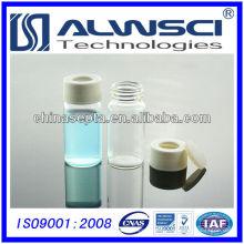 20ML frasco de vidrio transparente de almacenamiento con 24-400 abierto PP blanco frasco de almacenamiento de 27.5x57mm
