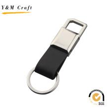 Chaveiro de Metal de couro de promoção de alta qualidade (Y03621)