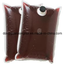 Sac de conditionnement de vin rouge dans boîte / sac à café liquide / sac à bandoulière en boîte
