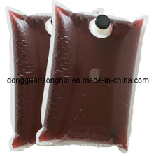 Red Wine Packaging Bag in Box/Liquid Coffee Bag/Bib Bag in Box