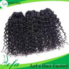 Cheveux humains remy de cheveux bouclés vierges de haute qualité non transformés