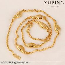 41543-Xuping nueva moda Gold Fish Jewelry Charm Necklace al por mayor