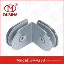Acero inoxidable de 135 grados de doble cara de fijación de vidrio Clip (CR-G33)