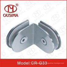 Aço inoxidável 135 graus dupla face Vidro fixação Clip (CR-G33)
