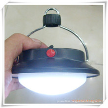 Round Camping LED Flat Lantern with Hook for Promotion