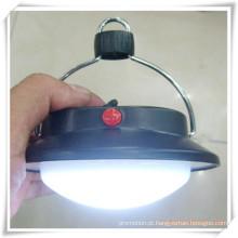 Camping rodada Lanterna LED Flat com gancho para promoção