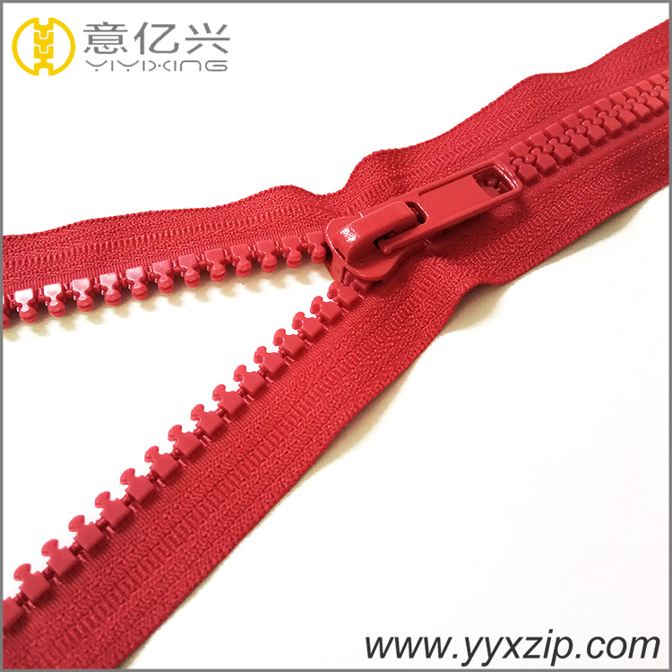 plastic resin zipper