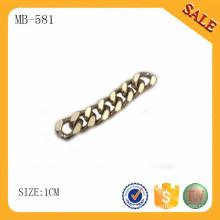 MB581 Moda dorada cadena metálica decorativa para accesorios de bolsos
