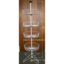 Floor Rotating Wire Basket Display Stand (PHY226)
