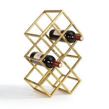 Save Space Wrought Iron wine shelf sheet metal