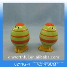 Оптовая яйцо формы керамический перец и солонка