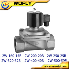 Válvula de solenóide de 1 polegada água válvula de solenóide de água de 2 polegadas para água de irrigação de óleo de gás