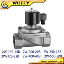 2w250-25B aço inoxidável 1 polegada 12v / 24v / 110v / 220v / 230v válvula solenóide de água