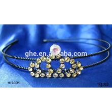 Nueva tiara de la venda del elástico del rhinestone de la venta al por mayor de la manera
