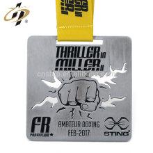 L'alliage de zinc découpé avec des matrices a gravé la médaille personnalisée de taewondo de conception pour le sport