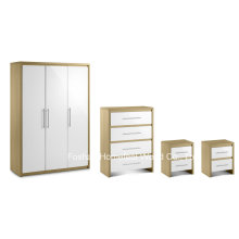 4 Piece High Gloss Bedroom Wooden Furniture Wardrobe Set (BD23)