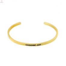 Heißer Verkauf Edelstahl gestempelt Bangles Custom Logo